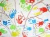 Actividad de pintar con las manos